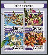 GUINEA 2016 ORCHIDS SHEET MINT NH