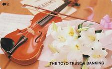 TC JAPON - MUSIQUE - VIOLON Brahms Fleur Lys Banque - VIOLIN  JAPAN phonecard