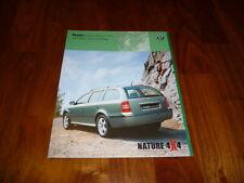 Skoda Octavia Combi nature 4x4 folleto 12/2001