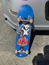 Vintage Tony Hawk Stalking Red Eyed Skeleton Birdhouse Complete Skateboard