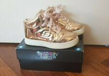 Toddler Girls SKECHERS shoes sneakers boots Sz 9. Rose Gold Light ups.