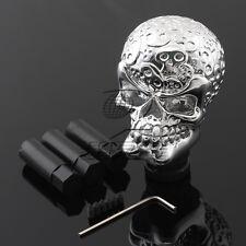 Chrome Skull Head Car Truck Manual Stick Gear Shift Knob Lever Shifter Universal