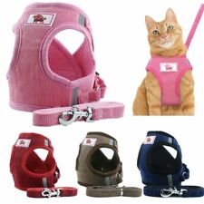 Pet Small Dog Puppy Harness Breathable Mesh And Leash Set Vest Xs-Xl Chest Strap