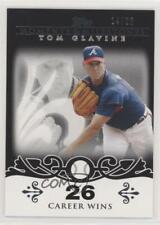 2008 Topps Moments & Milestones Black /25 Tom Glavine #137-26 HOF
