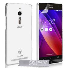 Yousave Accesorios Asus zenfone 2 Ultra Delgada Transparente De Silicona De Gel Suave Funda Protectora