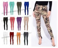 NEW LADIES SKINNY COLOURED JEGGINGS STRETCH TROUSER LEGGINGS PLUS SIZES 6 - 26