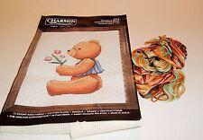 Charmin Counted Cross Stitch Kit Maurice Bear Boy With Tulips Alma Lynne #40-9