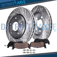 Front Brake DRILL Rotors & Ceramic Pad for 11-16 Hyundai Elantra 14-16 Kia Forte