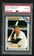 1990 Baseball Wit Mickey Mantle # 3 PSA 10 Gem Mint Low Pop 2 Trivia Game Card