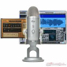 Blue Yeti Studio Condenser Multipattern USB Microphone Home Recording Bundle
