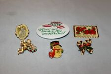Pins for Tie, Hat, Shirt, etc. Lot Of 6 Christmas Holiday related