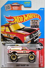 HOT WHEELS 2016 HW RESCUE CHEVY BLAZER 4X4 #3/10 RED FACTORY SEALED