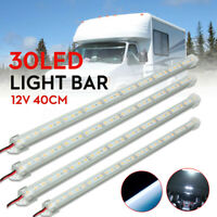 4X 12V 40cm 30 LED 5630 SMD Interior Strip Light Bar Lamp Car Van Caravan   .-