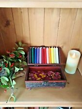 """BEESWAX CANDLES 2 x 4"""" CHOOSE YOUR COLOURS. HANDMADE IN THE UK. FREE DELIVERY"""