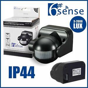 Bewegungsmelder Außen Schwarz Bewegungs Melder Wand Sensor PIR 180° 12m IP44 LED