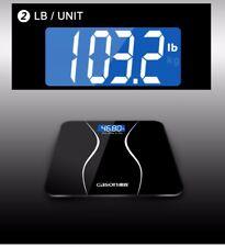 Balanza de baño Pantalla LCD Vidrio templado 180kg/50g  Salud Cuidado Personal
