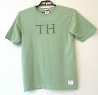 "90s VTG Men'sTommy Hilfiger ""TH"" sz Large SS Flag T-Shirt Tee Green Made in USA"
