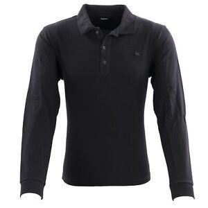 DIESEL Herren Polo Shirt T-KALAR-LONG-A-RAGS Schwarz 00STY4 2. Wahl Gr. XXL