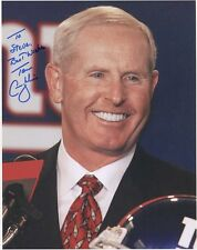 TOM COUGHLIN hand signed 8x10 color photo      GREAT NY GIANTS COACH   TO STEVE