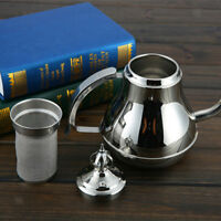 Coffee Drip Stainless Steel Kettle Tea Pot Maker Infusion Silver Gooseneck