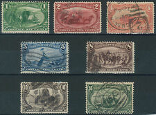 TMM* US Stamp group 1898 Trans Miss Expo Scott #285-91 F/VF  used/LH & NH
