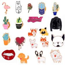 Fashion Pins Dog Cat Cartoon Brooch Pin Fun Badge Metal Enamel DIY Christmas New