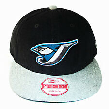 New Era MLB Toronto Bluejays Classic Snapback Hat Black Grey Corduroy Cap