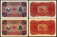 !COPY! 2 RARE QAJAR 100 TOMANS 1901 BANKNOTES !NOT REAL!