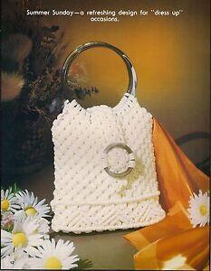 Été Dimanche Élégant Sac à Main Motif - Craft Livres :#7499 Macramé Sac Boutique