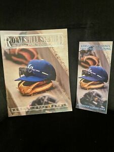 1994 ROYALS ILLUSTRATED OFFICIAL SPRING TRAINING PROGRAM w/ Scorecard & BONUS
