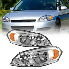 For 06 13 Chevy Impala 07 Monte Carlo Chrome Replacement Headlights Leftright Fits 2006 Impala