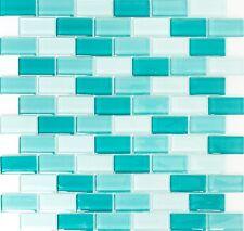 Rechteckmosaik 2 5x5 0x0 8cm Brick Mix grün Mosaik