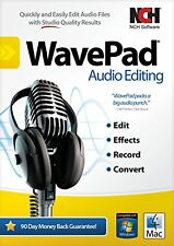 WavePad Sound Editor Masters Edition for PC or Mac .Edit audio and music