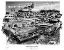 """GRAND NATIONAL  """"RUSTY RELICS"""" MUSCLE CAR AUTO ART PRINT ** FREE USA SHIPPING *"""