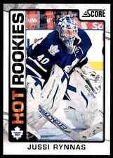 2012-13 Score Hot Rookies Jussi Rynnas #524