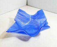 Signed Blue Swirl Handkerchief Bowl  - Ron Le Jeau??