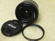 Nikon AF Nikkor 24mm f/2.8 D Wide Angle Prime Lens w/ Hood HN-2 + FILTER + CAPS