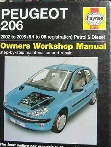 Peugeot 206 Haynes Workshop Manual (2002-2006) Petrol & Diesel #4613