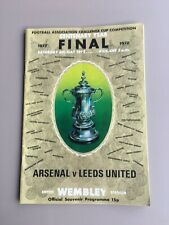 1972 FA Cup Final -  Leeds United vs Arsenal - Signed by 14 Leeds Players