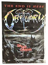 Obituary / John Tardy / 1992 The End Complete Lp / Album Magazine Print Ad