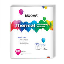 200 Packs Nuova Premium Thermal Laminating Pouches 9 X 115 Letter Size 3 Mil