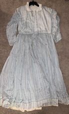 White/Blue Civil War Reenactment Dress - Size M