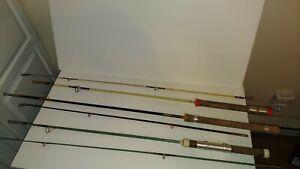 Vtg Lot of 3. 6ft 2 pc fishing poles.  South bend.  (Belknap rare) & unbranded.