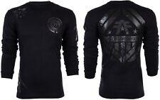 American Fighter Mens L/S T-Shirt AVERETT Athletic BLACK REFLECT Biker S-3XL $54