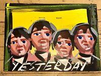 STEVE KEENE The Beatles Painting Yesterday 2008 16x12 Outsider Art Signed