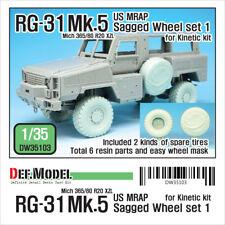 Def. modelo, RG-31 Mk.5 Conjunto de Rueda hundida (para cinética), DW35103, 1:35