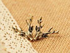 Stag / Deer Earrings in antique bronze