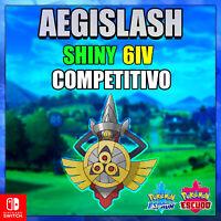 AEGISLASH SHINY COMPETITIVO POKEMON ESPADA Y ESCUDO 6 IV ENTREGA EN 10 MINUTOS