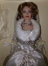 Franklin Mint Russian Bride Doll W/Bouquet and Fur Stole NIB BLOWOUT SALE