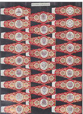 Série complète  Bague de Cigare Vitola Espagne BN115390 Ecussons Amérique 2
